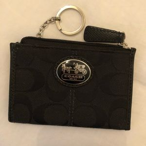 Coach Black Coin Purse with Key Ring